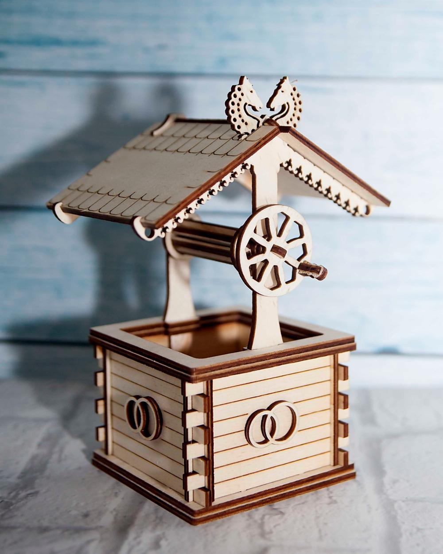 Well 3d Puzzle Wooden Free CDR Vectors Art