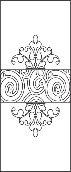 Floral Door Design Free CDR Vectors Art