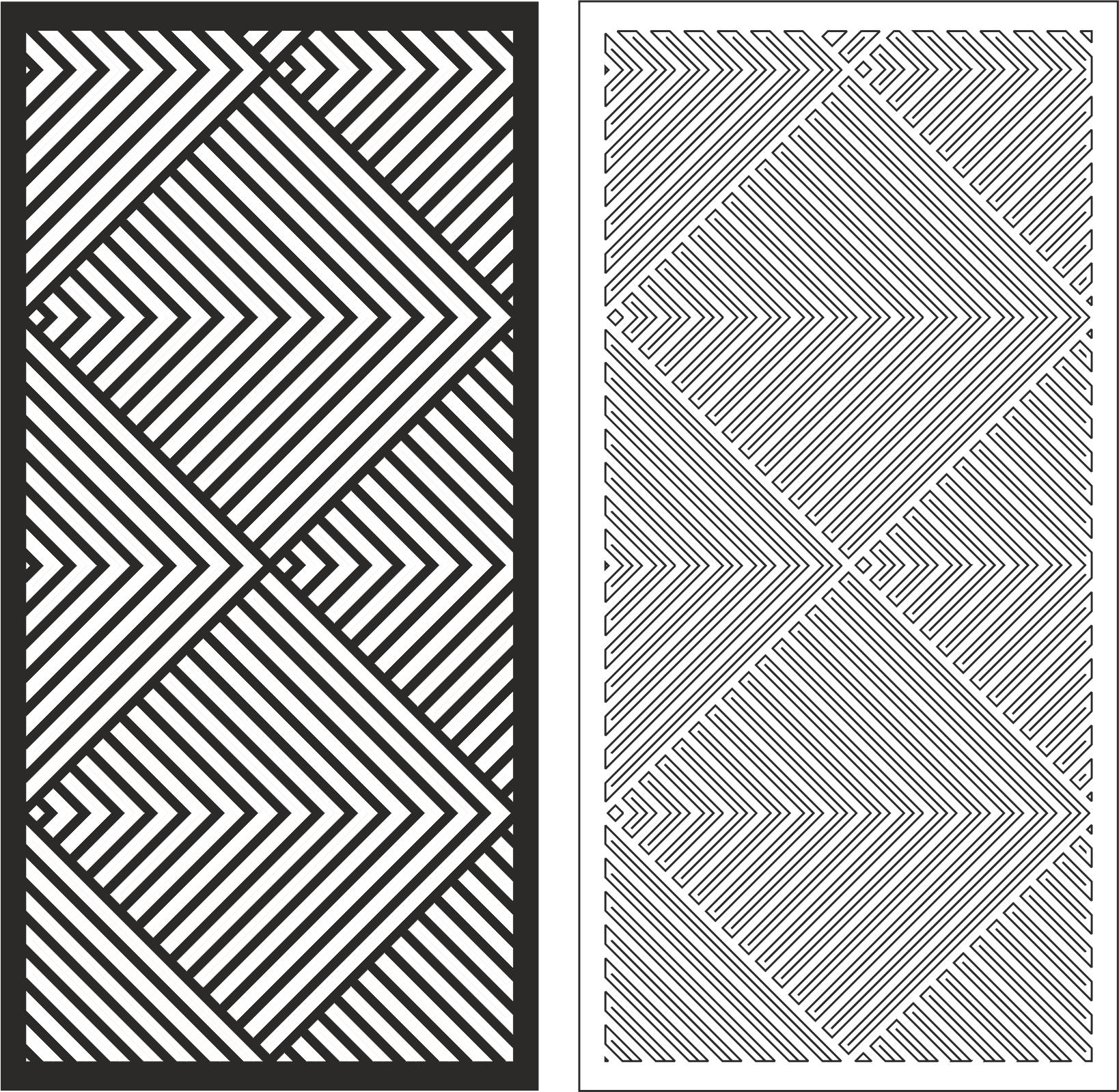 Linear Pattern Free CDR Vectors Art