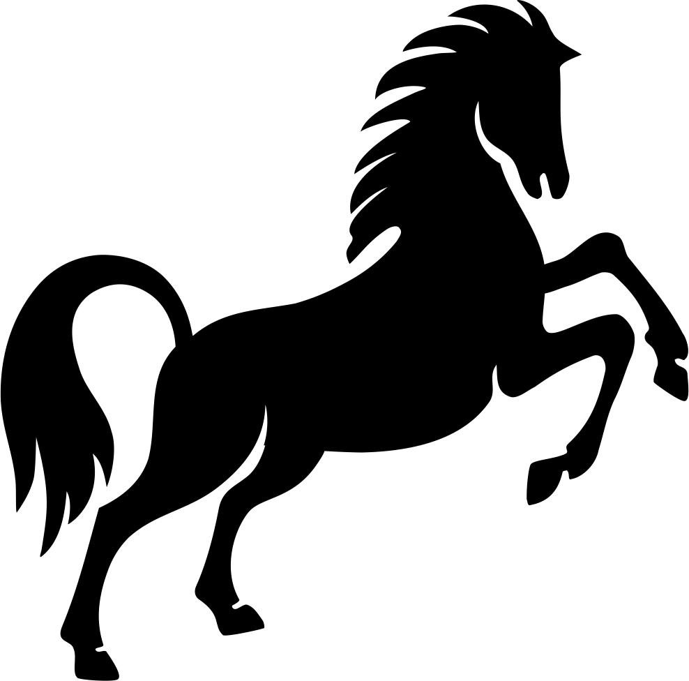 Prancing Horse Stencil Free CDR Vectors Art
