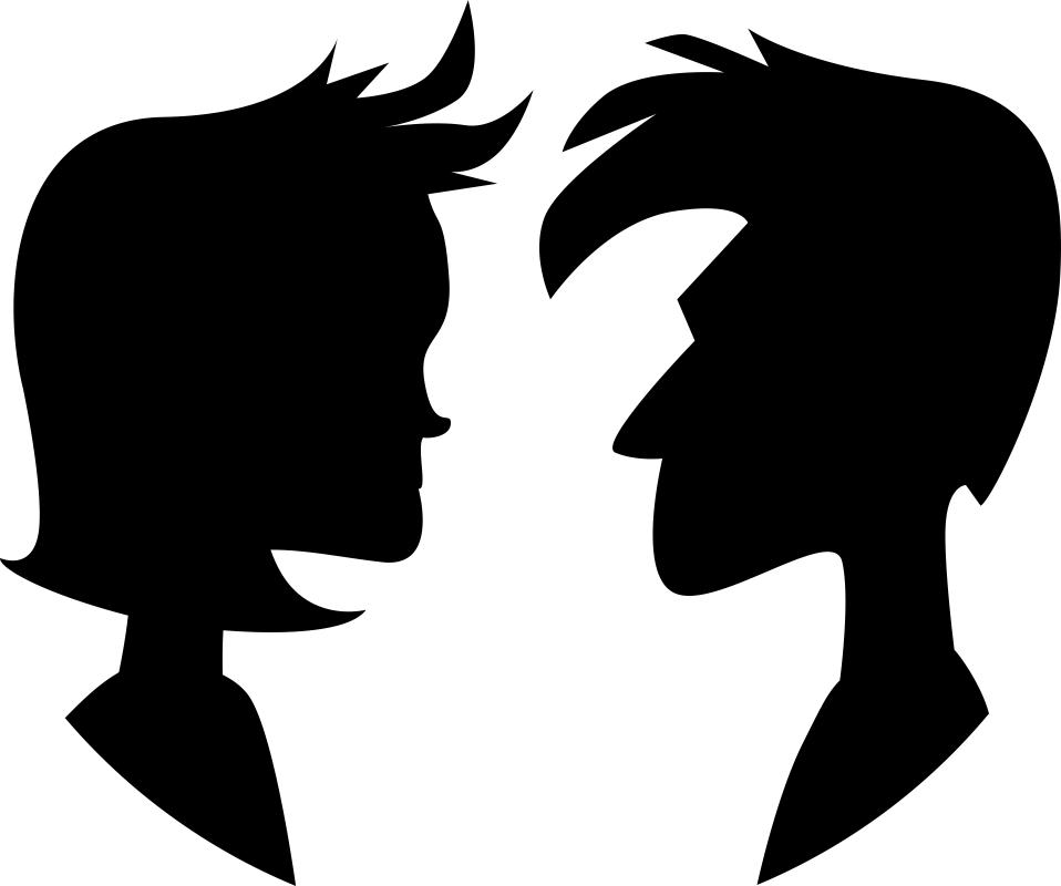 Couple Silhouette Free CDR Vectors Art