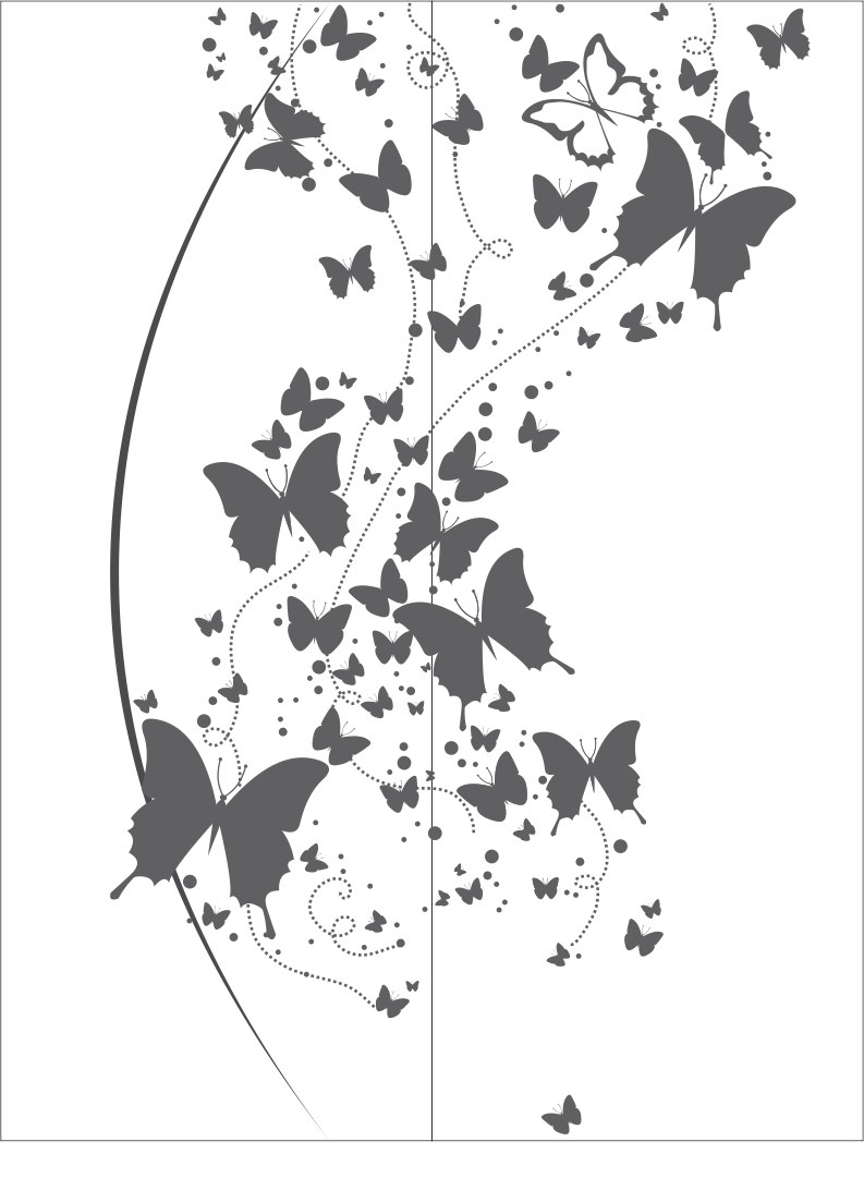 Flying Butterfly Clipart Black