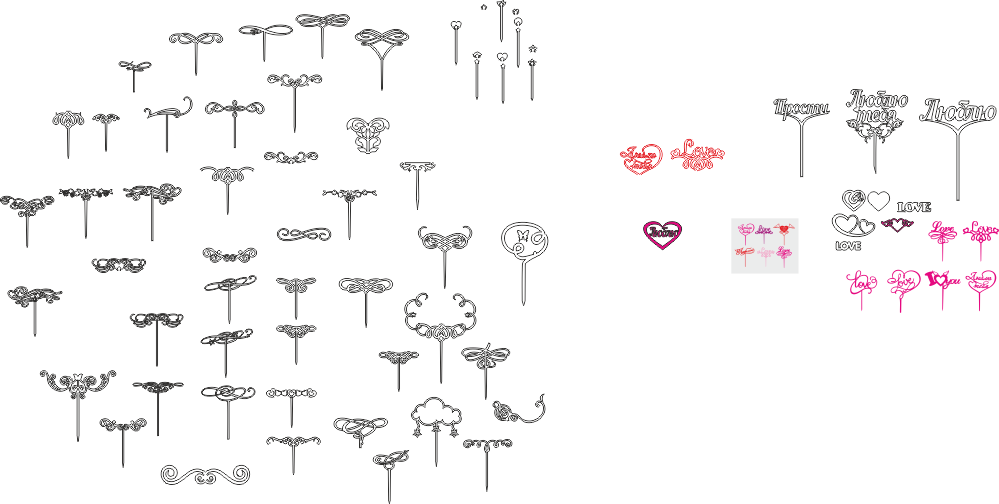 Valentine Toppers Free CDR Vectors Art