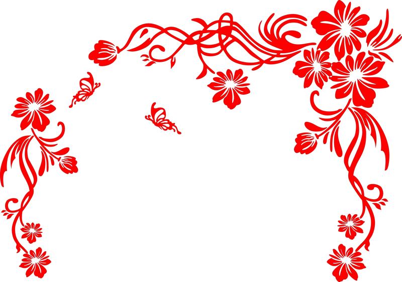 Floral Scrolls Free CDR Vectors Art