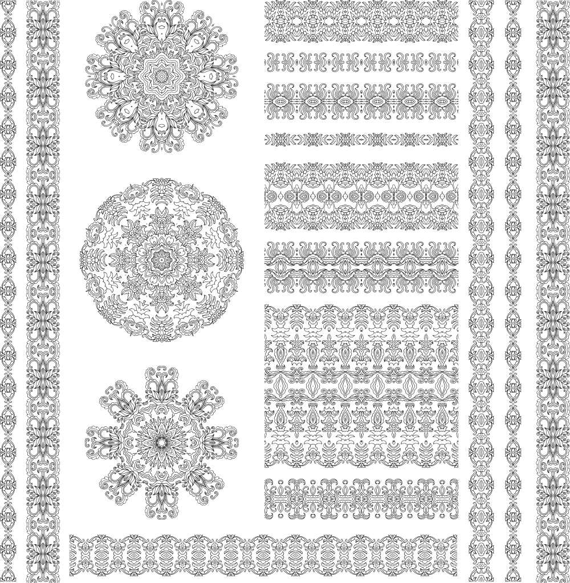 Ethnic Pattern Set Free CDR Vectors Art