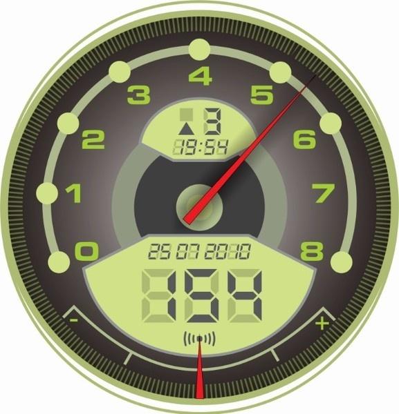 Green Speedometer Free CDR Vectors Art