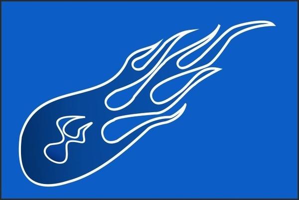 Blue flame Free CDR Vectors Art