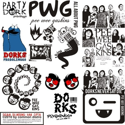 Pee Wee Gaskins Band Free CDR Vectors Art