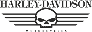Harley Davidson Skull Logo Free CDR Vectors Art