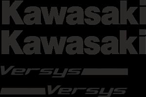 Kawasaki Versys Logo Free CDR Vectors Art