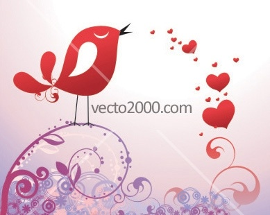 Chirp Valentine's Day Free CDR Vectors Art