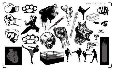 Chupin Trend Of Kung Fu Marti Clip Art Free CDR Vectors Art