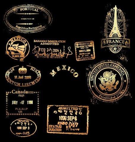 Classic Gold Imprint 02 Clip Art Free CDR Vectors Art