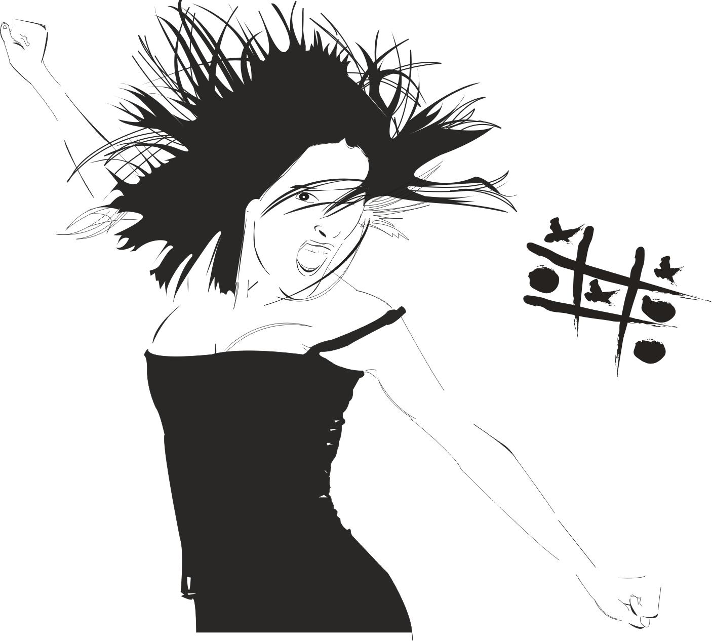 Female Clip Art Silhouette m1 Free CDR Vectors Art
