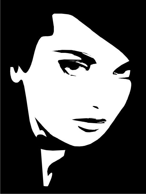 Female Clip Art Silhouette m5 Free CDR Vectors Art
