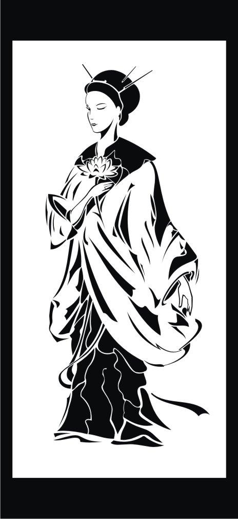 Female Clip Art Silhouette m7 Free CDR Vectors Art