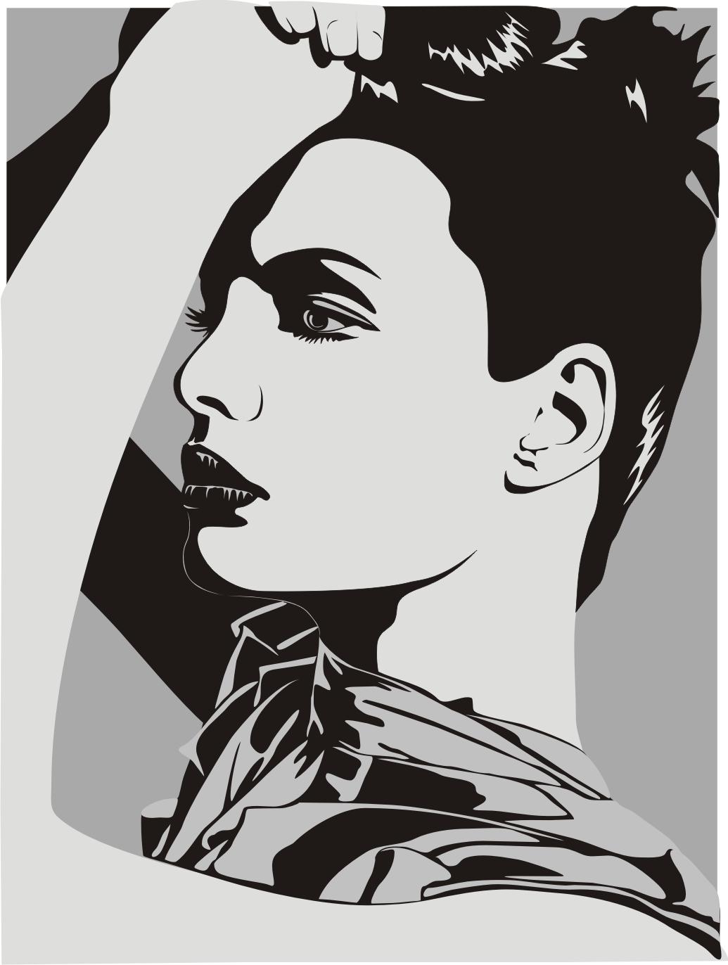 Female Clip Art Silhouette m8 Free CDR Vectors Art