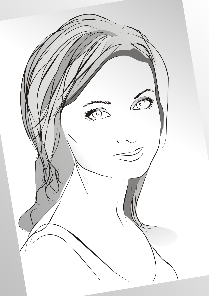 Female Clip Art Silhouette m14 Free CDR Vectors Art