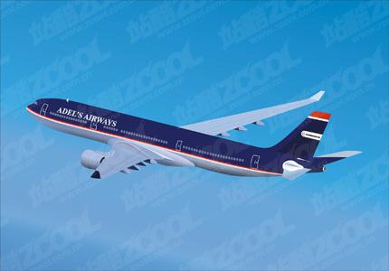 Material For Civilian Aircraft Clip Art Adels Airways Free CDR Vectors Art