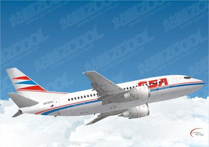 Material For Civilian Aircraft Clip Art Boeing Free CDR Vectors Art