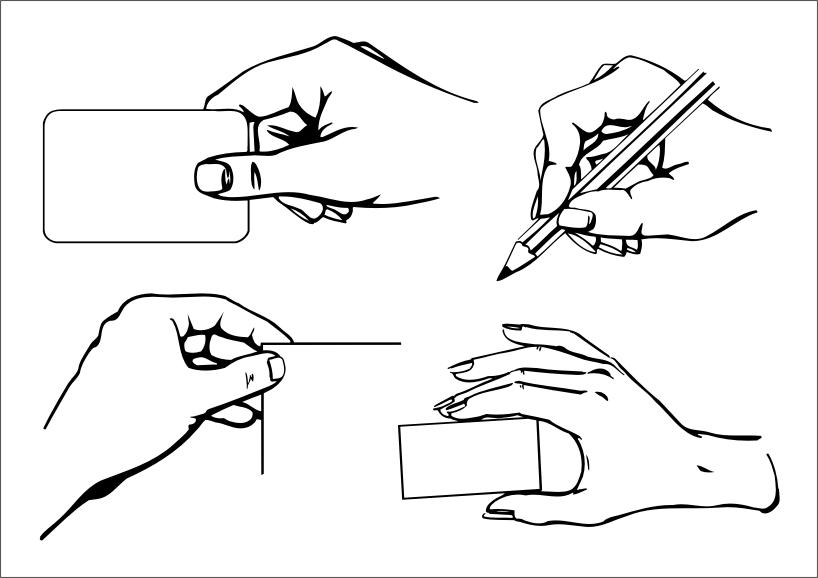 Artwork Design Elements Hand Icons Black White Handdrawn Free CDR Vectors Art