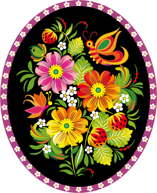 Traditional Pattern Cock Circle 048002 Free CDR Vectors Art