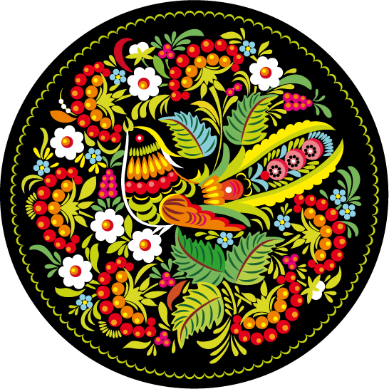 Traditional Pattern Cock Circle 048006 Free CDR Vectors Art