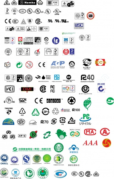 Various Types Of Certification Marks Free CDR Vectors Art