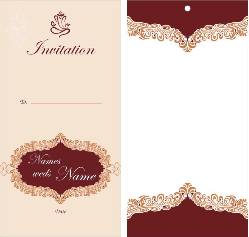 Wedding Card Design Free CDR Vectors Art