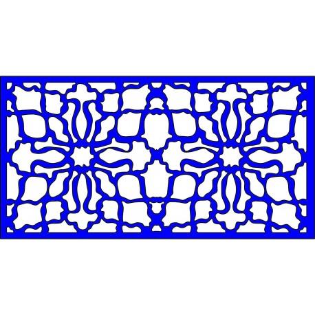 Cnc Panel Laser Cut Pattern File cn-l363 Free CDR Vectors Art