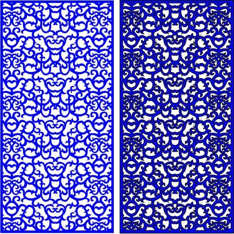 Cnc Panel Laser Cut Pattern File cn-l318 Free CDR Vectors Art