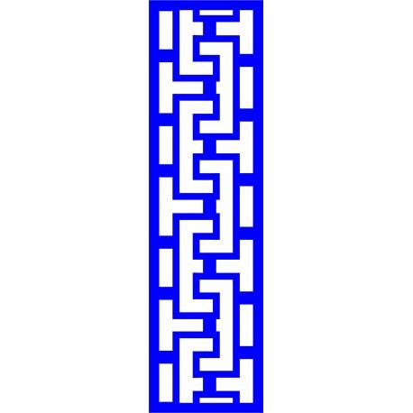 Cnc Panel Laser Cut Pattern File cn-l289 Free CDR Vectors Art