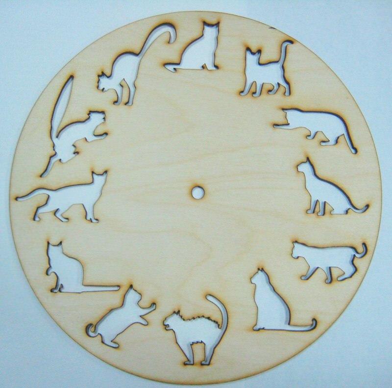12 Cats Clock Free CDR Vectors Art