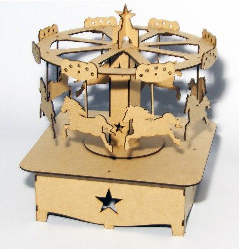 Carousel Laser Cut Free CDR Vectors Art
