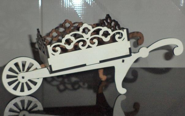 Cart 3d Puzzle Wooden Free CDR Vectors Art