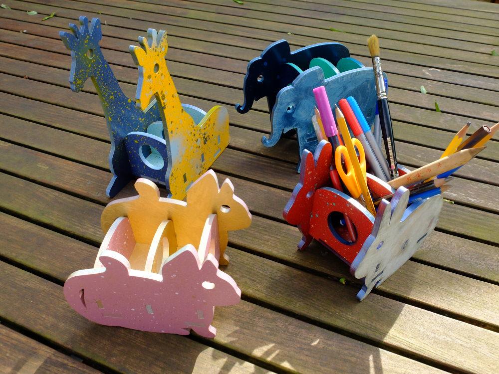Elephant Pencil Holder 3d Puzzle Free CDR Vectors Art