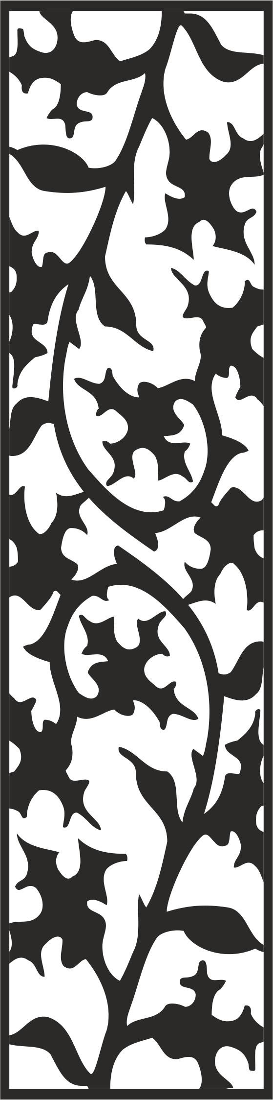 Laser Cut Floral Pattern 222 Free CDR Vectors Art