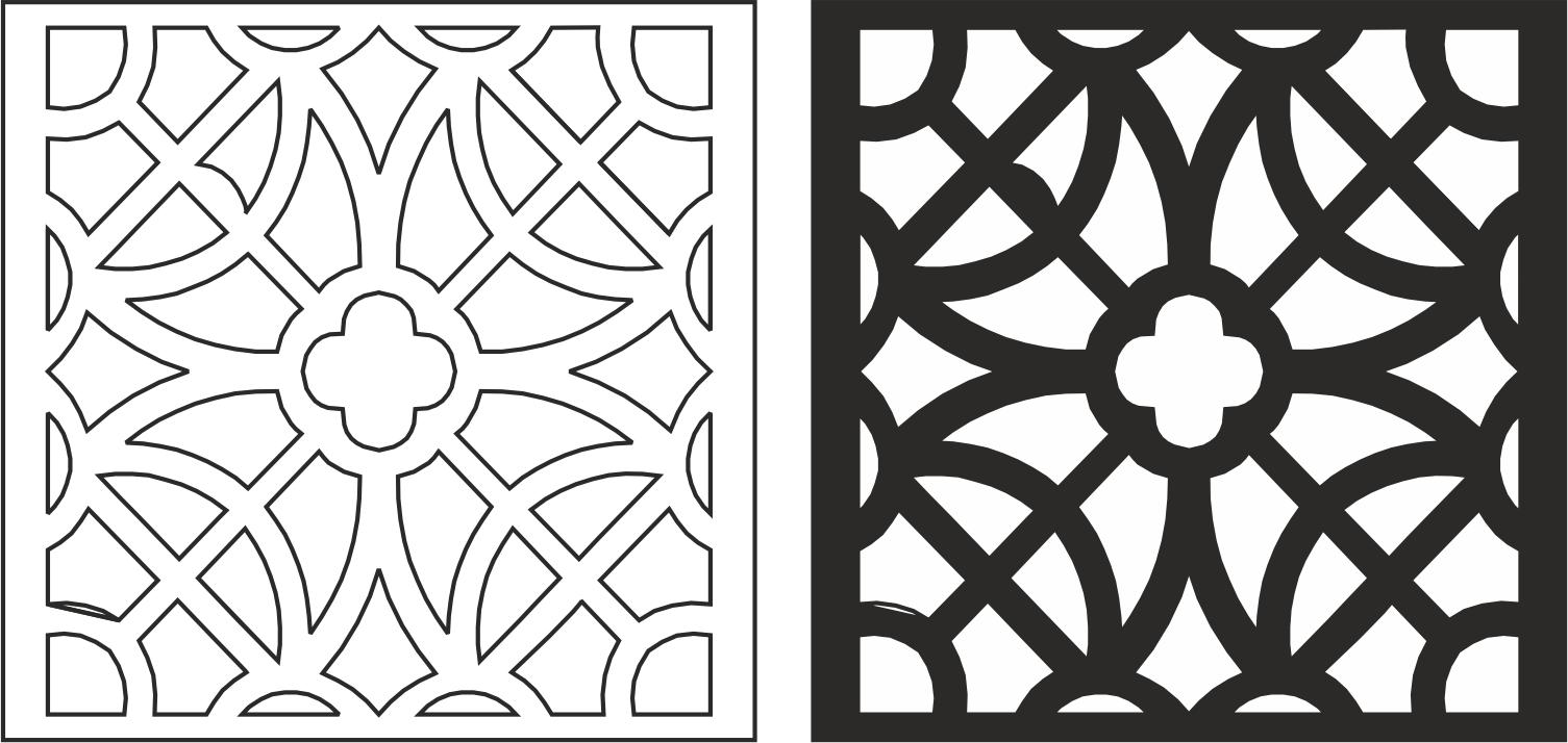 Laser Cut Seamless Floral pattern226 Free CDR Vectors Art
