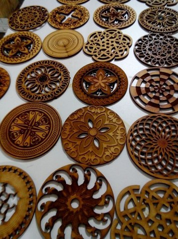 Laser Cut Wooden Mandala Free CDR Vectors Art