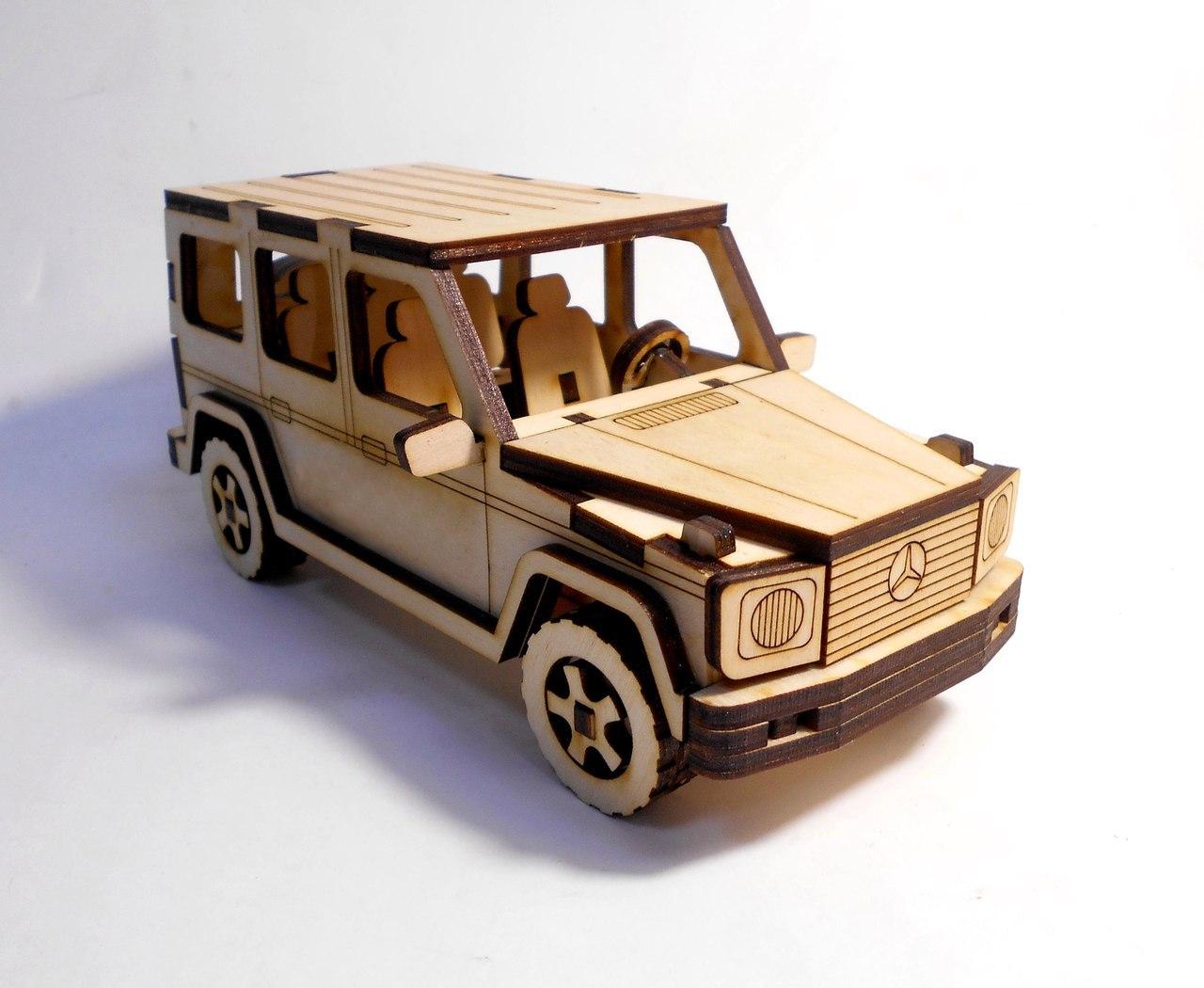 mercedes-benz g-class 3d Puzzle Wooden Free CDR Vectors Art
