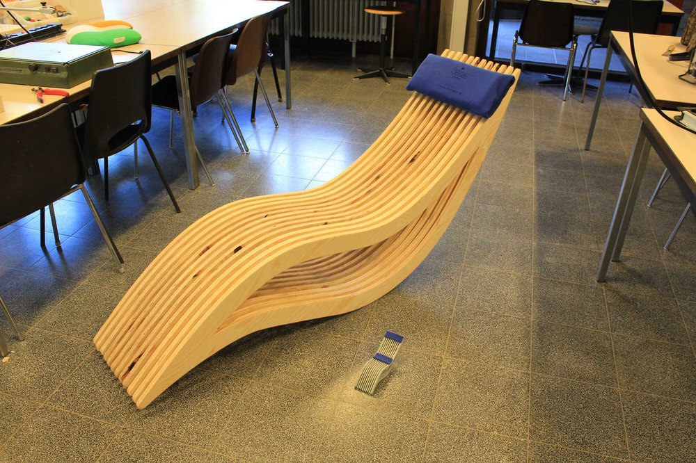 Parametric Rocking Wooden Chair Free CDR Vectors Art