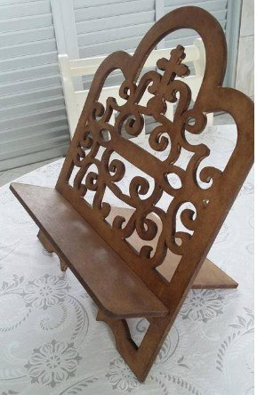 Religious Book Stand Wooden Free CDR Vectors Art