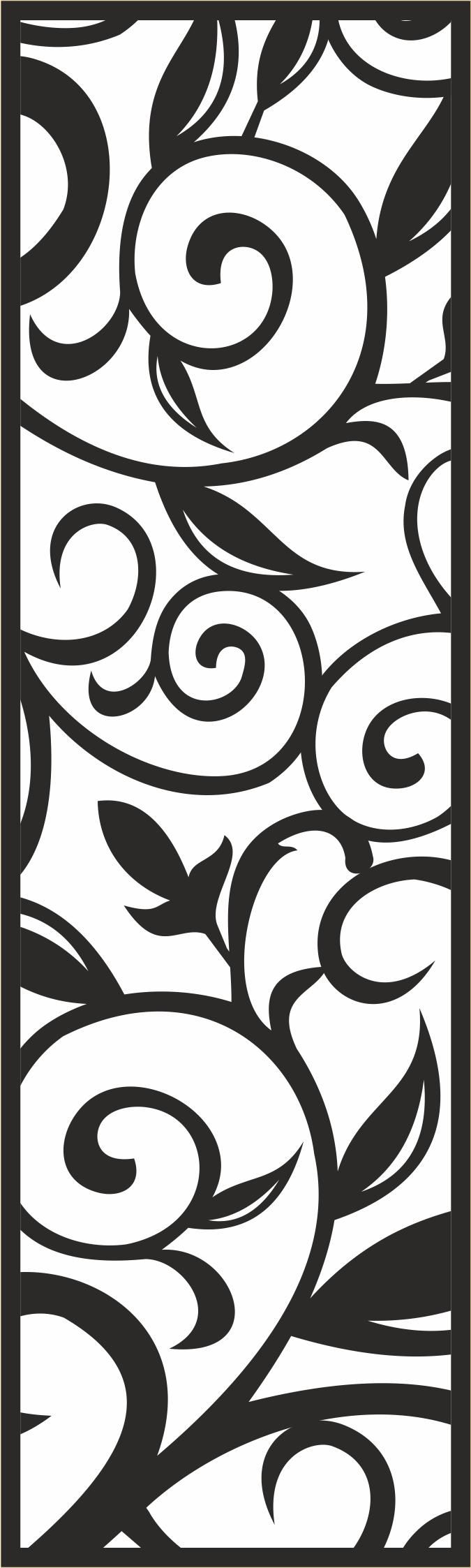 Seamless Laser Cut Floral Pattern Free CDR Vectors Art