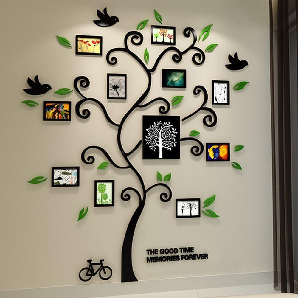 Tree Of Life Black 3D Wall Decal Free CDR Vectors Art
