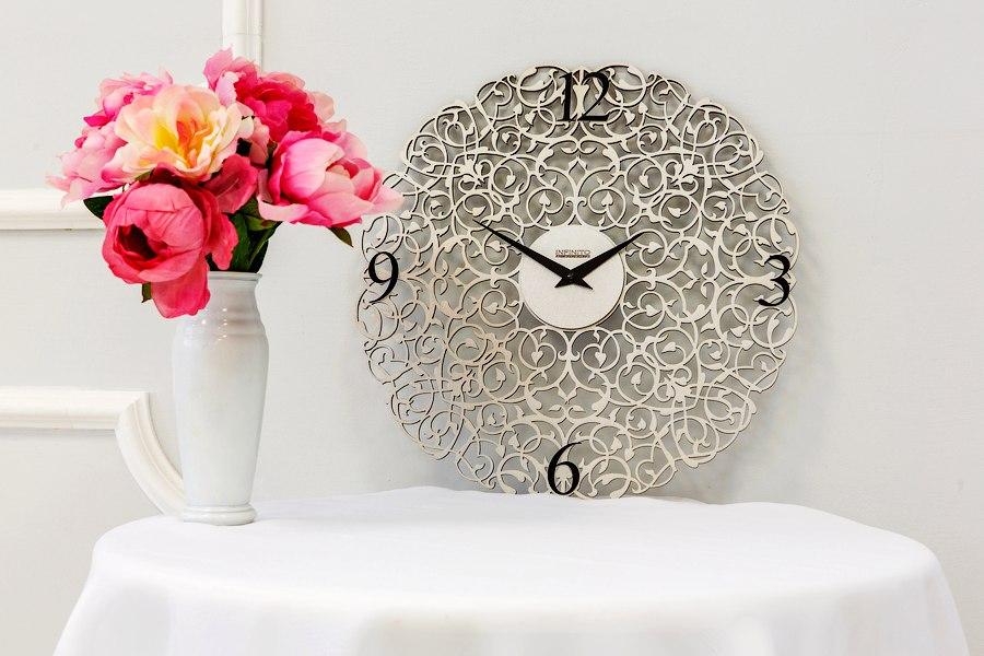 Wooden Clock Ornament Free CDR Vectors Art