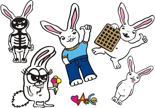 Bunny  Animal Cartoon Free CDR Vectors Art
