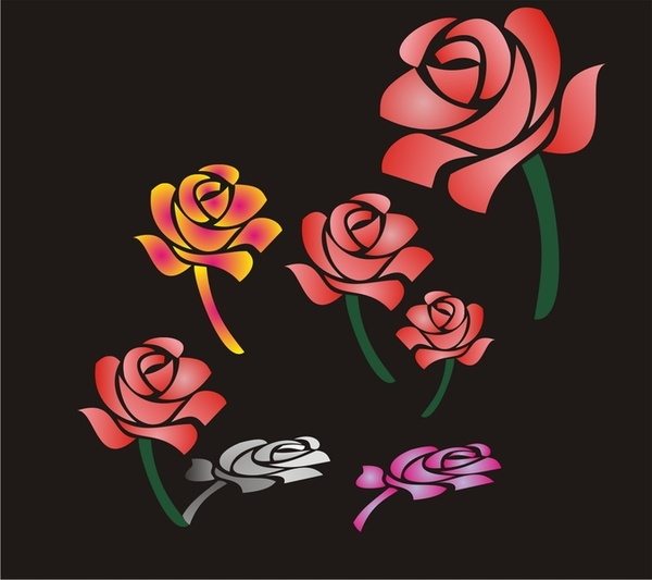 Roses Free CDR Vectors Art
