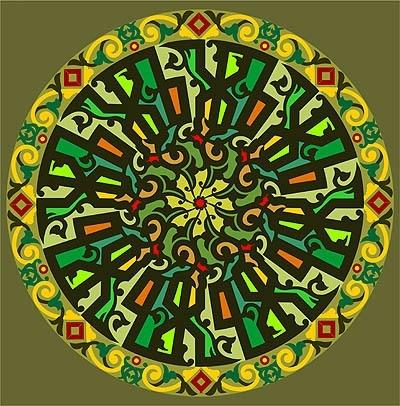 Free Muslim circular calligraphy Free CDR Vectors Art