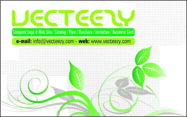 Green Business Card Template Free CDR Vectors Art