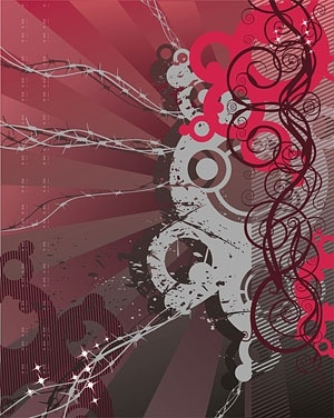 Trend lines and the background element Free CDR Vectors Art